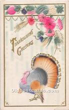 hol061932 - Thanksgiving Old Vintage Antique Postcard Post Card