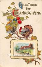 hol061933 - Thanksgiving Old Vintage Antique Postcard Post Card
