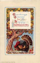 hol061942 - Thanksgiving Old Vintage Antique Postcard Post Card