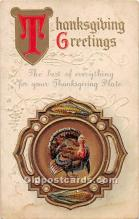 hol061946 - Thanksgiving Old Vintage Antique Postcard Post Card