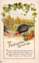 hol061950 - Thanksgiving Old Vintage Antique Postcard Post Card