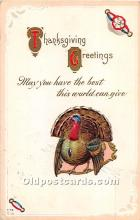 hol061951 - Thanksgiving Old Vintage Antique Postcard Post Card