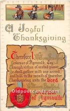 hol061952 - Thanksgiving Old Vintage Antique Postcard Post Card