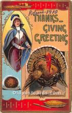 hol061955 - Thanksgiving Old Vintage Antique Postcard Post Card