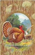 hol061956 - Thanksgiving Old Vintage Antique Postcard Post Card