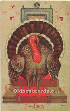 hol061957 - Thanksgiving Old Vintage Antique Postcard Post Card
