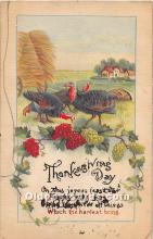 hol061960 - Thanksgiving Old Vintage Antique Postcard Post Card