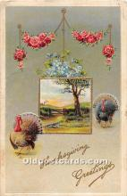 hol061961 - Thanksgiving Old Vintage Antique Postcard Post Card