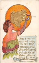 hol061963 - Thanksgiving Old Vintage Antique Postcard Post Card