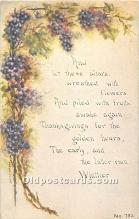 hol061966 - Thanksgiving Old Vintage Antique Postcard Post Card