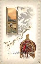 hol061968 - Thanksgiving Old Vintage Antique Postcard Post Card