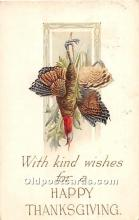 hol061969 - Thanksgiving Old Vintage Antique Postcard Post Card