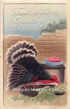 hol061971 - Thanksgiving Old Vintage Antique Postcard Post Card