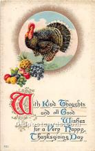 hol061973 - Thanksgiving Old Vintage Antique Postcard Post Card
