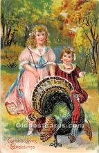 hol061974 - Thanksgiving Old Vintage Antique Postcard Post Card