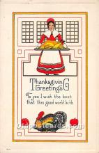 hol061975 - Thanksgiving Old Vintage Antique Postcard Post Card