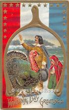 hol061977 - Thanksgiving Old Vintage Antique Postcard Post Card