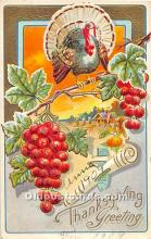 hol061978 - Thanksgiving Old Vintage Antique Postcard Post Card