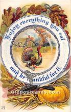 hol061981 - Thanksgiving Old Vintage Antique Postcard Post Card
