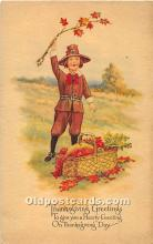 hol061984 - Thanksgiving Old Vintage Antique Postcard Post Card