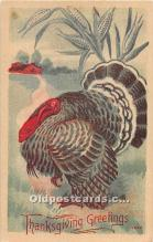 hol061989 - Thanksgiving Old Vintage Antique Postcard Post Card