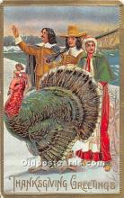 hol061990 - Thanksgiving Old Vintage Antique Postcard Post Card