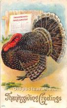 hol061992 - Thanksgiving Old Vintage Antique Postcard Post Card