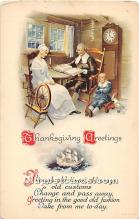 hol061993 - Thanksgiving Old Vintage Antique Postcard Post Card