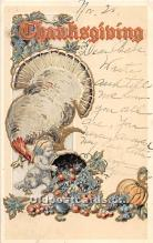 hol061995 - Thanksgiving Old Vintage Antique Postcard Post Card