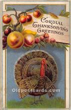 hol061998 - Thanksgiving Old Vintage Antique Postcard Post Card