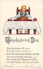 hol062004 - Thanksgiving Old Vintage Antique Postcard Post Card