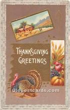hol062006 - Thanksgiving Old Vintage Antique Postcard Post Card