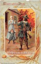 hol062014 - Thanksgiving Old Vintage Antique Postcard Post Card