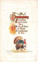 hol062016 - Thanksgiving Old Vintage Antique Postcard Post Card