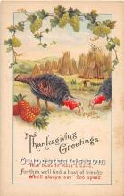 hol062027 - Thanksgiving Old Vintage Antique Postcard Post Card