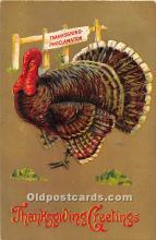 hol062028 - Thanksgiving Old Vintage Antique Postcard Post Card