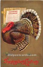 hol062030 - Thanksgiving Old Vintage Antique Postcard Post Card