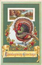 hol062036 - Thanksgiving Old Vintage Antique Postcard Post Card