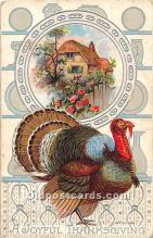 hol062037 - Thanksgiving Old Vintage Antique Postcard Post Card