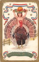 hol062043 - Thanksgiving Old Vintage Antique Postcard Post Card