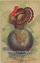 hol062044 - Thanksgiving Old Vintage Antique Postcard Post Card