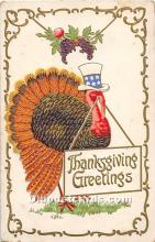 hol062045 - Thanksgiving Old Vintage Antique Postcard Post Card
