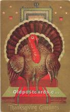 hol062048 - Thanksgiving Old Vintage Antique Postcard Post Card