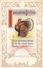 hol062050 - Thanksgiving Old Vintage Antique Postcard Post Card