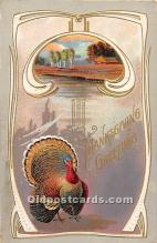 hol062055 - Thanksgiving Old Vintage Antique Postcard Post Card