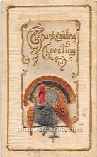hol062057 - Thanksgiving Old Vintage Antique Postcard Post Card