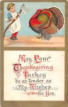 hol062058 - Thanksgiving Old Vintage Antique Postcard Post Card