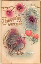 hol062060 - Thanksgiving Old Vintage Antique Postcard Post Card