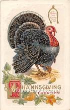 hol062062 - Thanksgiving Old Vintage Antique Postcard Post Card
