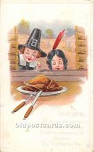 hol062063 - Thanksgiving Old Vintage Antique Postcard Post Card